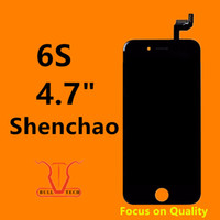 Wholesale Lcd Screen Panel Wholesale - Shenchao LCD For iPhone 6S Grade AAA+ LCD Assembly 4.7 Inch Display With Touch Screen Digitizer Strong 3D Touch Replacement DHL Shipping