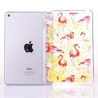 ipad mini için bling durumlarda toptan satış-Apple iPad Mini 4 Yaratıcı Tasarım için sıvı Durumda Bling Glitter Parlak Quicksand Sparkle Yıldız ve Akan Sıvı Şeffaf Plastik Kapak
