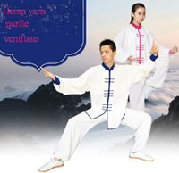 Wholesale Summer Hemp yarn tai chi women Chinese wind men tai chi clothing martial arts suit Chinese practice kung fu suit