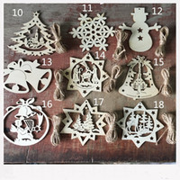 Wholesale F Accessories - 10 pcs Christmas Style Blank Wooden Crafts Laser Wood Crafts Party Wedding Decoration DIY Accessories