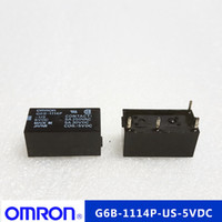 Wholesale 5vdc Power - Free shipping lot (5 pieces lot) 100%Original New G6B-1114P-US-5VDC G6B-1114P-US-5V G6B-1114P-US-DC5V 4PINS 5A250VAC 30VDC 5VDC Power Relay