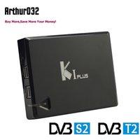 dvb t2 tv caixa venda por atacado-Ki plus + dvb s2 t2 android 7.1 caixa de tv amlogic s905 quad core 1g 8g media player MPLP Wifi H.265 4 K 1080 P DLNA receptor de vídeo digital