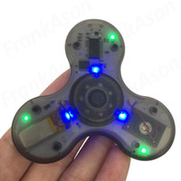 Wholesale Recharge Usb - High End Blue Tooth Music Fidget Spinner 2nd Generation BT Tri-spinner EDS Anti-stress USB Recharging Spinners Decompression Novelty Toy