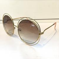 gafas de sol de diseño mariposa al por mayor-Gafas de sol de lujo 114S para mujeres Deisnger CE114S Cara redonda grande Uv400 Estilo de verano Len Adorno de mariposa Adumbral Gran cara mixta con estuche