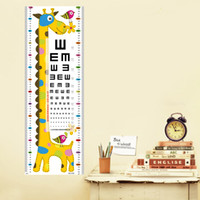 Wholesale Vision Charts - Home Decoration Stickers Children's Room Giraffe Vision Table Cartoon Wallpaper Height Lot Drop Shipping