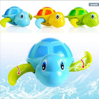 Wholesale Turtle Mini Toys - 6pcs lot baby turtle Bath toys Paddling fish Cartoon chain up toy Parent-child toys for parents and children XT