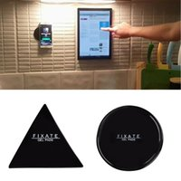 Wholesale Car Sticker Holder - Magical Tablet Phone Bracket Round Triangle Anti-slip Mat Anti Slip Mat Car Mobile Phone Holder Sticky Gel Pad Wall Sticker
