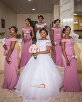 Wholesale empire waist off shoulder dress - 2017 blush pink Bridesmaid Dress Off-Shoulder sleeveless zipper floor-length Sheath Satin Beaded Sash Pleats empire waist maid of honor gown