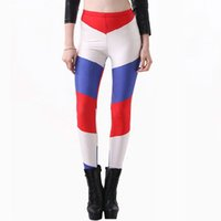 Wholesale Holland Clothes - Netherlands skinny pants Holand Black milk galaxy leggings tight Holland National flag fitness wear Outdoor sportwear Sport gym clothing