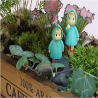 ingrosso resina gnomi-Cute Mini Figurine Miniature Girl Mei Resina Artigianato Ornamento Fairy Garden Gnomes Moss Terrarium Decorazioni per la casa