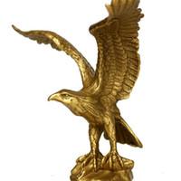 china estátua da águia venda por atacado-China Estátua de bronze de bronze EAGLE / Hawk figura estatueta