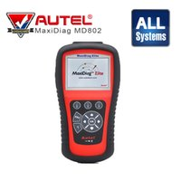 Wholesale Diagnostic Usa - Autel Maxidiag Elite Md802 Full System Auto Diagnostic Scanner with Data Stream Code Reader for Asian European USA Vehicles