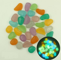 500g Glow In Dark Irrégulier Pierre Luminous Beads Pour Décoration Décorative Diy Figurines Miniatures Jardin Ornements