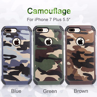 Wholesale Iphone Hybrid Pattern - Army Camo Camouflage Pattern Navy Army Military Back Cover Hybrid Hard PC Soft TPU Cases for Iphone 7 6S Samsung Galaxy S8 plus S6 S7 edge