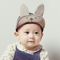 Hot Selling New Trendy Baby Boys Girls Cap Blue Pink Kids Hat Beanie Beanie For Boys Meninas Long Rabbit Ears Children Dots Hats
