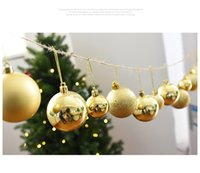 Wholesale 6cm Blue Christmas Ball - new Christmas decorations 6cm 24pcs set Christmas tree Decorative balls DIY Party high quality colorful plating ball Party Supplie wholesale