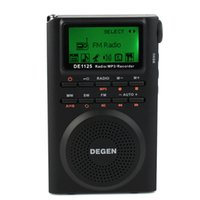 Wholesale sw pack resale online - DEGEN DE1125 Radio FM AM MW SW Radio Multiband MP3 Digital Radio Receiver GB D2976A
