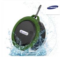 microfone longo venda por atacado-Orador sem fio impermeável do chuveiro dos oradores de Bluetooth com o prolongamento forte da bateria do excitador 5W e Mic e copo removível da sucção