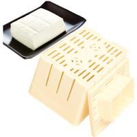 самодельные коробки оптовых-DIY Самодельный Тофу Пресс-Чайник Плесень Коробка Пластиковый Соевый Творог Машина Кухня Кулинария Инструменты