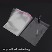 Wholesale Wholesale Newspapers Bags - 500pcs lot 12x20cm clear OPP self adhesive packaging bags for magazines, newspapers, photos, CDs, bread, popcorn, nuts