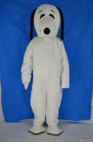 Wholesale White Dog Mascot Suit - 2017 Hot White Plush Snoopy Dog Mascot Costume Cartoon Doll Peanuts Suit Adult Size Good Quality and Cheap Price Fancy Dress Party Free Shi
