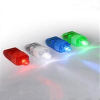 Wholesale Christmas Laser Lights Sale - 100pcs Lighted Toys Multi-Color 4pcs set LED Light Finger Laser Beam Torch Ring Christmas toys 25sets lot On Sale
