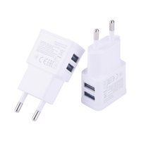 Wholesale S3 Dock Car - Dual EU 5V 2A plug USB Wall Charger Adapter Phone For iPhone 4 5 6 For Samsung Galaxy S3 S4 Note 3 Note 4 N9000