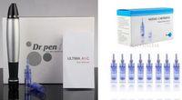 Wholesale Medical Pins - medical Dr. Pen Derma Pen with 2pcs 12 36 42 pin nano needle cartridge microneedle derma Roller derma stamp