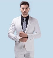 Wholesale Designers White Groom Wedding Suits - 2017 High Quality Groom Tuxedos Wedding Suit For Men Mens Fashion Tux Tuxedos Designers Tailored Prom Suits