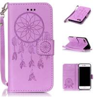 Wholesale Iphone Gel Flip - Beautiful Wallet Leather Case PU Flip Soft Gel Cover Embossed Campanula Flower case for iphone 7 plus 5S 6S plus S7 edge
