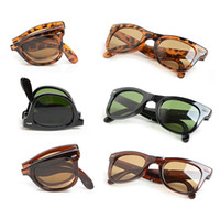 Wholesale Case For Folding Glasses - Designers Sunglasses Fashion Brand Sunglasses for Men UV400 Lens Folding Frame Sunglasses With Glasses Case and Box