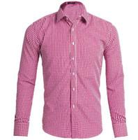 Wholesale Plaid Shirt Trend - 2017 new men's casual shirt men cultivating long sleeve shirt stitching Plaid pattern trend of men