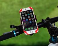 bisiklet için cep telefonu tutacağı toptan satış-Evrensel Bisiklet Bisiklet Cep Telefonu Standı Sahipleri Cep Telefonu Destek Klip Araba Bisiklet dağı Esnek Telefon Tutucu Iphone Samsung GPS Için Uzatın