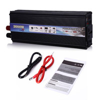 Professional 2000W W Inverter DC 12V à AC 220V Power Inverter Chargeur Convertisseur Transformateur Véhicule Alimentation Switch