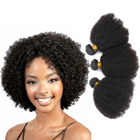 Wholesale Hot Perm Curls - Hot Selling!!! AFRO CURL Brazilian Human Hair Weaves 7A Grade 100% Unprocessed Human Hair Extensions 3Bundles Brazilian Human Hair Weaves