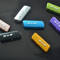 kart okuyucu müziği toptan satış-Marka Yeni Mini Taşınabilir Klip Kart Okuyucu MP3 Müzik Çalar Desteği TF / SD Kart DHL Ücretsiz