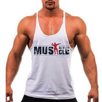 Wholesale Wholesale Printing Equipment - Wholesale- New 2016 Mens Tank Tops Bodybuilding Equipment Fitness Brand Singlets Men\'s Tank Shirts jersey Brand Clothes M-2XL