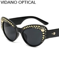 Wholesale Presents Valentines - Vidano Optical Brand Fashion Women Sunglasses Men Sun Glasses Luxury Diamond Design Valentine Birthday Gift Present UV400 Free Shipping