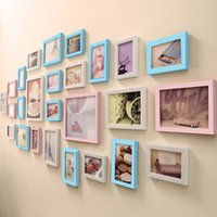 Wholesale Living Room Wall Hanging Modern - Home Wall Decoration Photo Picture Frame Bedroom Living Room 26pcs   set Creative Hanging Simple No trace Nails