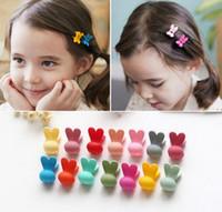 Wholesale Baby Grips - children baby Hair Pins accessories hairpin head rabbit small hair grip Mini bangs hair clips 50 p