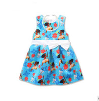 Wholesale Dresses 12 Years Old Girls - Moana dress Toddler Princess Dress Moana for Girls Clothes Printed Robe Fillette Costumes Children Clothing Dresses Kids 12 Years Old