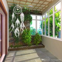 Vendita calda Dream Catcher Rete circolare con piume Wall Hanging Decoration Decor Ornament MTY3