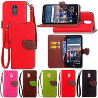 Wholesale Wallet Case For Xperia Z - Leaf Litchi Leather Case For Huawei Y5 Y6 2017 Enjoy 5S MOTO Z Z2 Play Sony Xperia XA1 XA Ultra LG V30 Stylo3 Stylo Stylus 3 Stand Cover