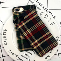 Wholesale Phone Cloth Case - Brand New Luxury Retro Case Plaid Pattern Flannelette Cloth Shell Hot Sale Phone Case For iPhone X iphone 7 8 7plus 6 6plus 20PCS UP