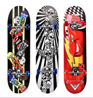 Wholesale Wholesaler Kick Scooters - 78 cm Colorful Skateboarding 4 Round Aluminum Support Double Rocker Kick Scooter Outdoor Practice Maple Wood Skate board