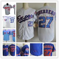 c2c0b733571 Baseball Men Short Mens Montreal Expos VLADIMIR GUERRERO 2002 Cooperstown  Vintage Jerseys 27 VLADIMIR GUERRERO Montreal