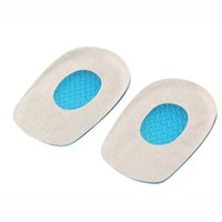 Wholesale Medical Silicone Gel Heel Pad Providing Shock Absorbing Properties Men and Women Socks Crack Set Foot Cares Supply