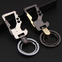 Wholesale Brand Pillars - luxury brand steel key chain fashion llaveros hombre men car keychain women portachiavi auto