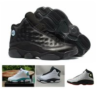 Wholesale E Got - 2017 Air Retro 13 XIII Men women Basketball Shoes sneakers All black red Bred He Got Game Black Sneaker Sport Shoes