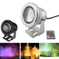 sualtı ledli spotlar toptan satış-10 W Su Geçirmez RGB Led Işıklandırmalı DC12V Sualtı Yüzme Havuzu Işıkları Led akvaryum lambası Sualtı Spot Sıcak Beyaz Soğuk Beyaz 30 adet